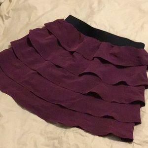 Apt. 9 purple Ruffled mini skirt